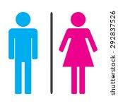 men and women icons illustration | Shutterstock . vector #292837526