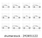 different types of cars icons   ... | Shutterstock .eps vector #292851122
