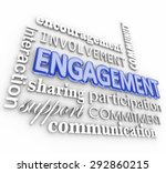Engagment Word In 3d Letters...