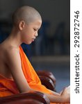 young buddhist monks  thailand. | Shutterstock . vector #292872746
