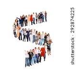 people in queue waiting for... | Shutterstock . vector #292874225