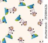space astronaut   cartoon... | Shutterstock . vector #292884626