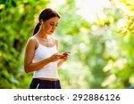 young brunette caucasian woman... | Shutterstock . vector #292886126