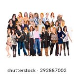 team together united colleagues  | Shutterstock . vector #292887002