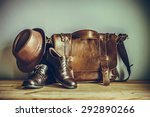 still life with leather... | Shutterstock . vector #292890266