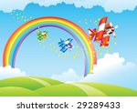 beautiful landscape with... | Shutterstock .eps vector #29289433