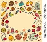 handmade objects creative... | Shutterstock . vector #292898486