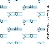 notes and clef in the... | Shutterstock .eps vector #292901132