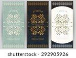 vector set of ornate vertical... | Shutterstock .eps vector #292905926