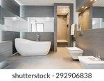 designed freestanding bath in... | Shutterstock . vector #292906838