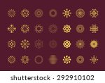 set of  abstract flower vector...
