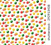 seamless pattern of watercolor... | Shutterstock . vector #292913438