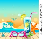 summer holiday background with... | Shutterstock .eps vector #292926176