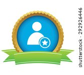 certificate seal with user icon ...