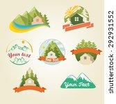 mountain house logo collection  ... | Shutterstock .eps vector #292931552