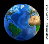 Detailed Picture Earth Landforms Isolated - Fine Art prints