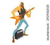 rockstar guitarist with the...   Shutterstock .eps vector #292936535