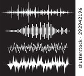 sound wave icon set. equalize... | Shutterstock .eps vector #292942196