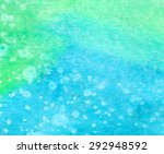Green Blue Watercolor Hand...