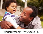 father bonding with his toddler ... | Shutterstock . vector #292953518