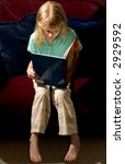 Child Reading - stock photo