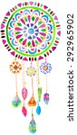 watercolor dreamcatcher for... | Shutterstock .eps vector #292965902
