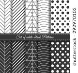 set of black white abstract...   Shutterstock .eps vector #292970102