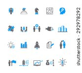 business training icon set | Shutterstock .eps vector #292978292