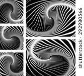 twirl and vortex illusion. op... | Shutterstock .eps vector #292980566