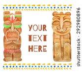 watercolor hawaii vacation... | Shutterstock .eps vector #292980896