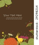 nature design with text area | Shutterstock .eps vector #29298214