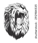 Stock vector lion head monochromatic logo for your t shirt 292984535