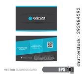 business card template | Shutterstock .eps vector #292984592
