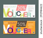 discount voucher template with... | Shutterstock .eps vector #292984622