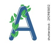 letter a in eco style with a...   Shutterstock .eps vector #292985852