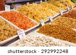 mixed nuts and dried fruits at...   Shutterstock . vector #292992248