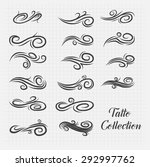 tattoo collection. vector... | Shutterstock .eps vector #292997762