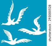 silhouette of dove. a dove...   Shutterstock .eps vector #293000528
