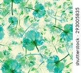 autumn pattern. green  imprint... | Shutterstock .eps vector #293005835