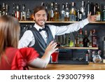 portrait of a handsome...   Shutterstock . vector #293007998