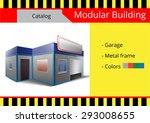 modular building  a series of... | Shutterstock .eps vector #293008655