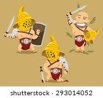gladiator power glory blood... | Shutterstock .eps vector #293014052