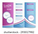 tri fold brochure template | Shutterstock .eps vector #293017982