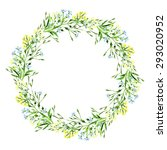 raster round frame with... | Shutterstock . vector #293020952