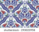 traditional turkish ottoman... | Shutterstock .eps vector #293023958