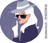 mystery woman. female secret... | Shutterstock .eps vector #293025818