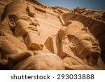 2 pharaoh. abu simbel  egypt | Shutterstock . vector #293033888