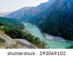 himalya mountain range with the ...   Shutterstock . vector #293069102