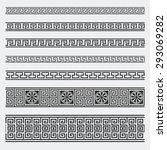 greek seamless patterns ... | Shutterstock .eps vector #293069282