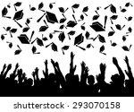 graduation  graduates tossing... | Shutterstock . vector #293070158
